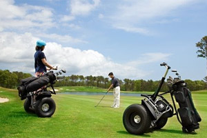 Segways ready for golf use